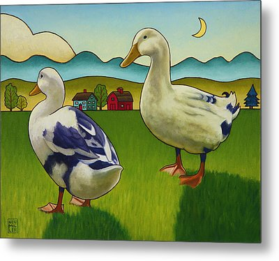 Melissas Ducks Metal Print by Stacey Neumiller