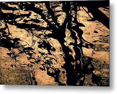 Melted Chocolate Metal Print