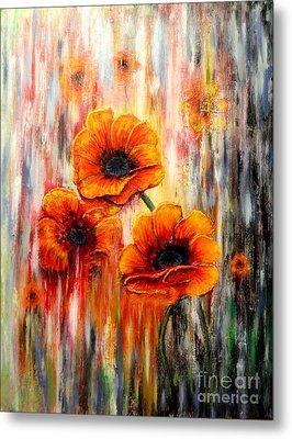 Melting Flowers Metal Print by Greg Moores