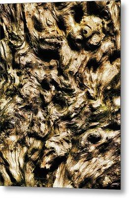 Melting Wood Metal Print by Wim Lanclus