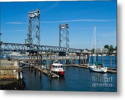 Memorial Bridge Portsmouth Metal Print by Kevin Fortier