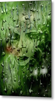 Metal Print featuring the digital art Memory In The Rain by Darren Cannell