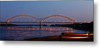 Memphis - I-40 Bridge Over The Mississippi 2 Metal Print by Barry Jones