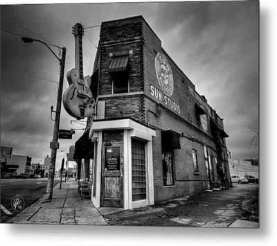 Metal Print featuring the photograph Memphis - Sun Studio 004 Bw by Lance Vaughn