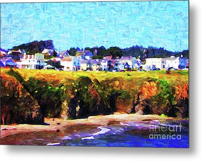 Mendocino Bluffs Metal Print by Wingsdomain Art and Photography