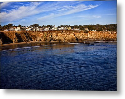Mendocino Coastal Town Metal Print by Garry Gay