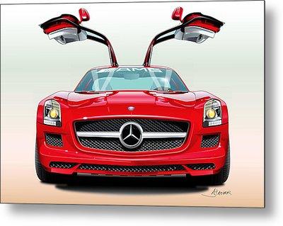 Mercedes Amg Sls Metal Print