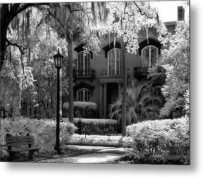 Mercer Williams House Metal Print by Jeff Holbrook