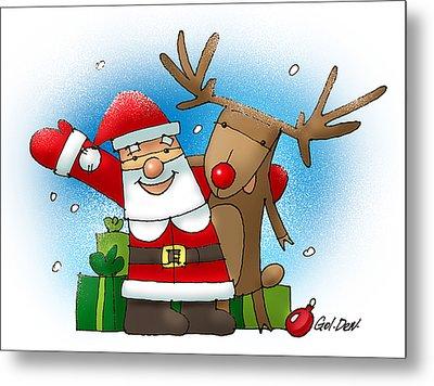 Merry Christmas Metal Print by Denys Golemenkov