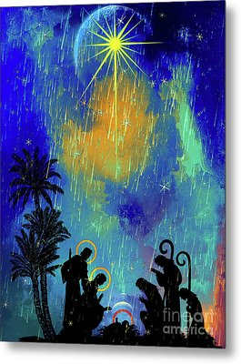 Metal Print featuring the painting  Merry Christmas To All. by Andrzej Szczerski