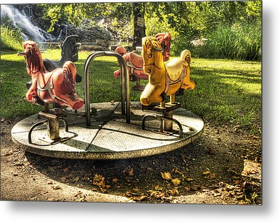 Metal Print featuring the photograph Merry-go-round by Tamyra Ayles