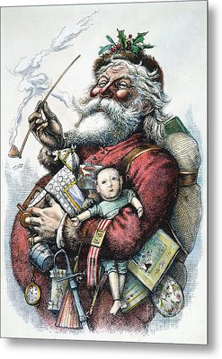 Merry Old Santa Claus Metal Print