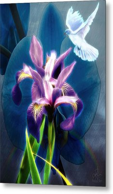 Metal Print featuring the digital art Message Of Peace by Pennie McCracken