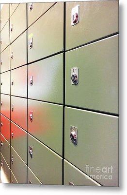 Metal Mail Lockers Metal Print