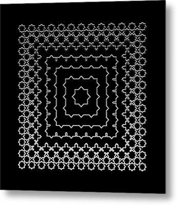 Metal Print featuring the digital art Metallic Lace Aii by Robert Krawczyk