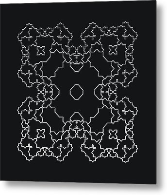 Metallic Lace Aiv Metal Print by Robert Krawczyk