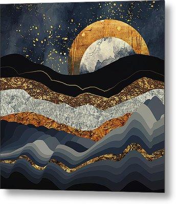 Metallic Mountains Metal Print by Katherine Smit