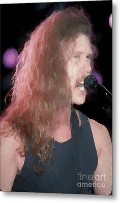 Metallica James Hetfield Painting Metal Print