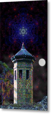 Metal Print featuring the digital art Metatron Nocturnal by Iowan Stone-Flowers