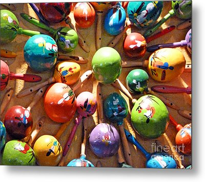 Mexican Maracas Metal Print by Methune Hively