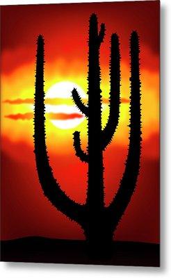 Mexico Sunset Metal Print by Michal Boubin
