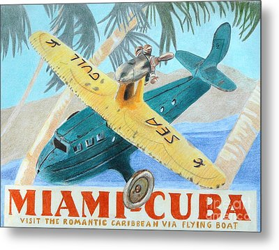Miami-cuba Metal Print by Glenda Zuckerman