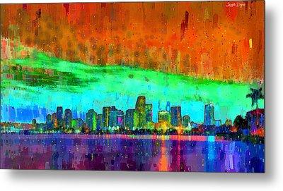 Miami Skyline 110 - Pa Metal Print by Leonardo Digenio