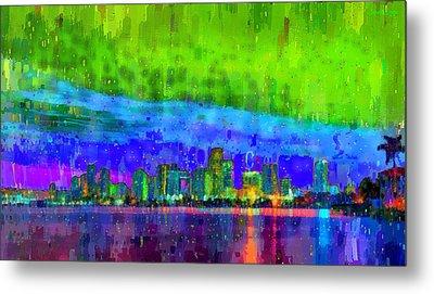 Miami Skyline 112 - Da Metal Print