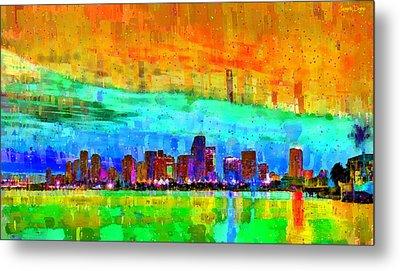 Miami Skyline 141 - Pa Metal Print by Leonardo Digenio