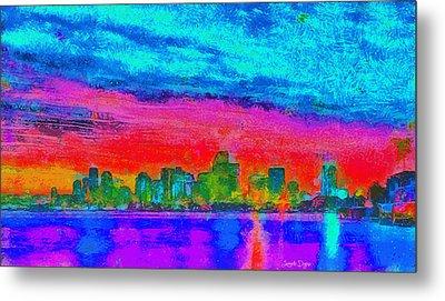 Miami Skyline 161 - Pa Metal Print by Leonardo Digenio