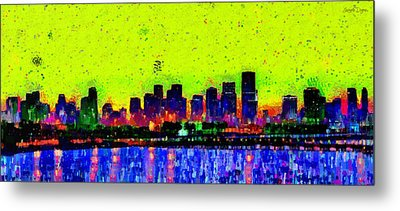 Miami Skyline 26 - Pa Metal Print by Leonardo Digenio