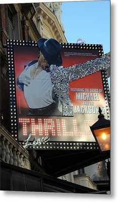Michael Jackson Musical Metal Print