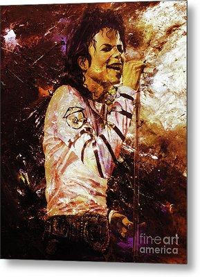 Michael Jackson Singer  Metal Print by Gull G