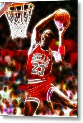 Michael Jordan Magical Dunk Metal Print by Paul Van Scott