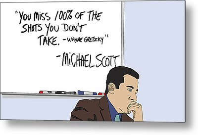 Michael Scott From The Office Metal Print by Tomas Raul Calvo Sanchez