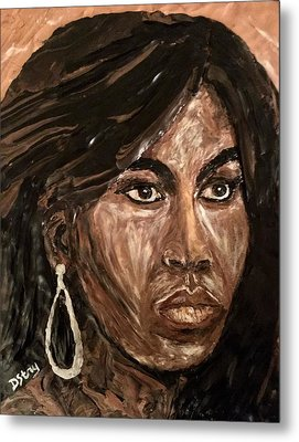Michelle Obama A Class Act Metal Print by Deborah Stanley