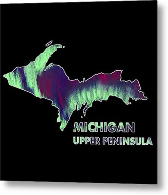 Michigan - Up - Northern Lights - Aurora Hunters Metal Print