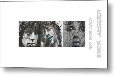 Mick Jagger Triptych Metal Print