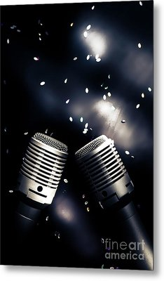 Microphone Club Metal Print by Jorgo Photography - Wall Art Gallery
