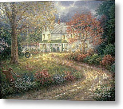 Mid Country Farmhouse Metal Print by Chuck Pinson
