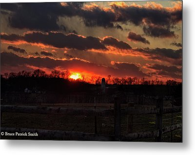Metal Print featuring the photograph Mid Ohio Sunset by Bruce Patrick Smith