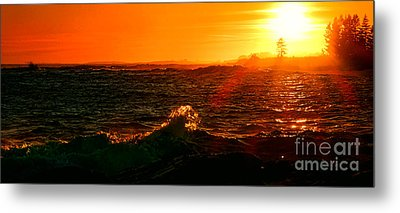 Midcoast Maine Sunset Metal Print