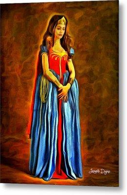 Middle Ages Wonder Woman - Da Metal Print by Leonardo Digenio