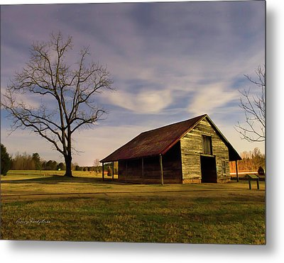 Midnight At The Mule Barn Metal Print by George Randy Bass