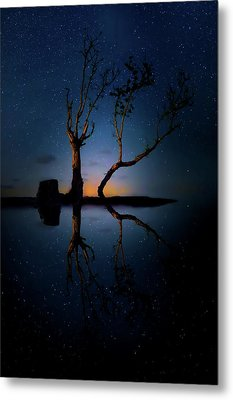 Metal Print featuring the photograph Midnight Dance Of The Trees by Mark Andrew Thomas