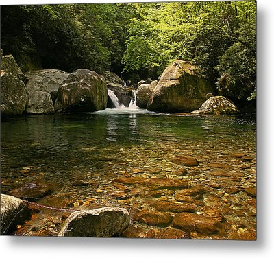 Midnight Hole In Big Creek Metal Print by Ulrich Burkhalter