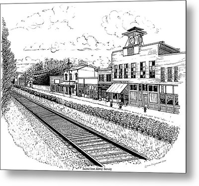 Metal Print featuring the drawing Midway Kentucky by Laura Brightwood
