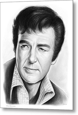 Mike Connors Metal Print by Greg Joens