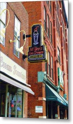 Mike's Ice Cream And Coffee Bar Metal Print by Sandy MacGowan