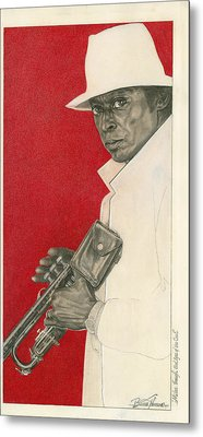 Miles Through Steel Eyes Of The Soul Metal Print by Buena Johnson